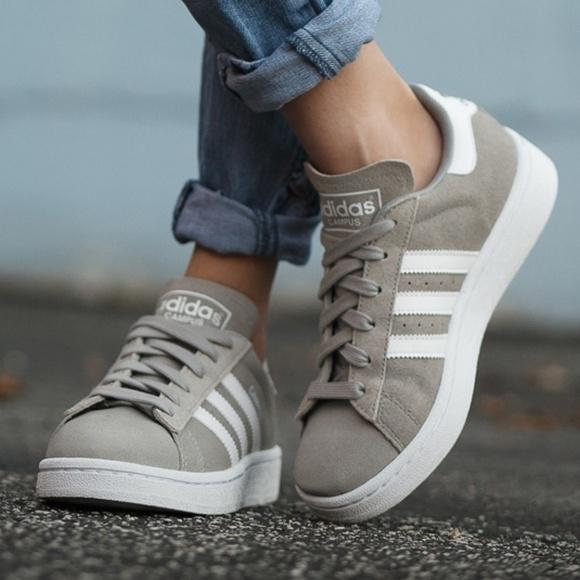 le adidas scamosciato campus scarpe taglia 9 donne poshmark grey